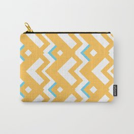 004 Abstract orange, light blue and white for home decoration Carry-All Pouch