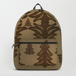 Brown Bramble Pung Trees Backpack