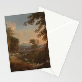 Adriaen van Diest - Landscape with Distant Mountains (1698) Stationery Cards