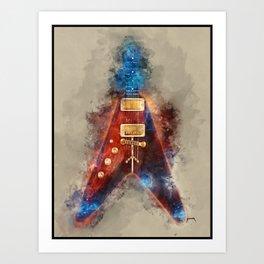 Albert King's Guitar Art Print
