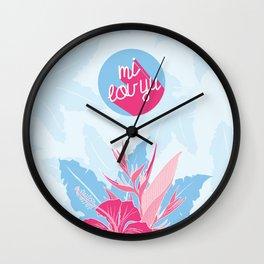 "Tropical Love - ""Mi lov yu"" [Jamaican Creole] Wall Clock"