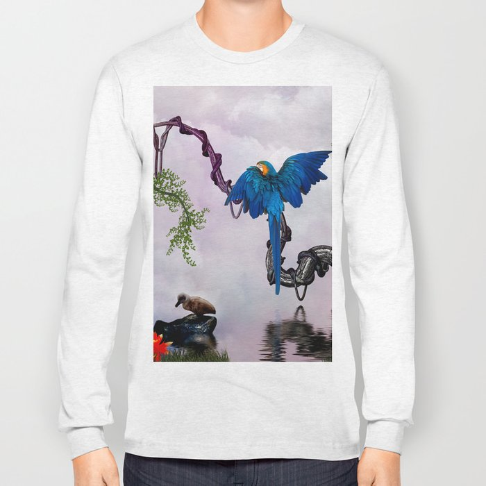 Wonderful blue parrot Long Sleeve T-shirt