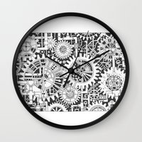steampunk Wall Clocks featuring Steampunk by Squidoodle