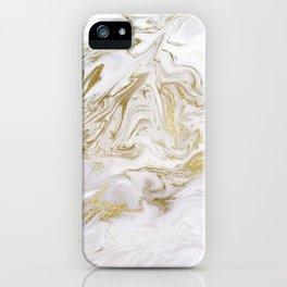 Liquid gold marble II iPhone Case