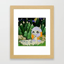 yeti of the night Framed Art Print
