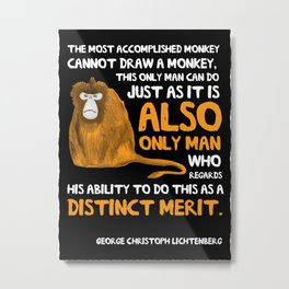 Clever Monkey Metal Print