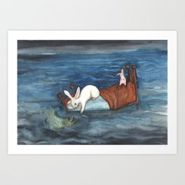 Bed as a Boat Art Print