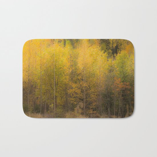 Fall color forest Bath Mat