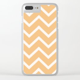 Zig Zag Yellow Summer Pattern Clear iPhone Case