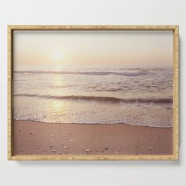 "Ocean Photography, Sea Beach Photograph, Waves Coastal Photo, ""A New Beginning"" Serving Tray"