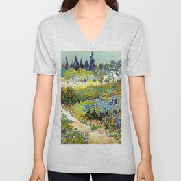 Vincent van Gogh Garden at Arles Unisex V-Neck
