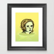 Monotone V Framed Art Print