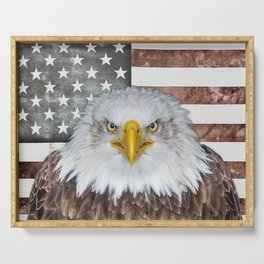 American Bald Eagle Patriot Serving Tray