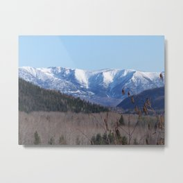 Summer Snowy Mountain Metal Print