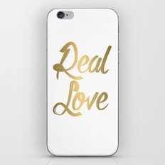 Real Love l. gold iPhone & iPod Skin
