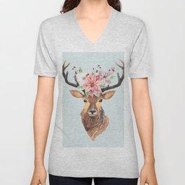 Winter Deer 2 Unisex V-Neck