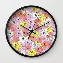 Lily Mix Wall Clock