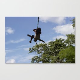 Girl on Swing Canvas Print