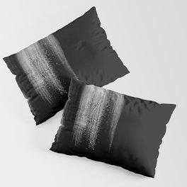 Black And White Bokeh Stripes Brush Strokes - Gothic Glam - Abstract - Corbin Henry Pillow Sham