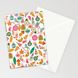 zipped merry christmas pattern Stationery Cards
