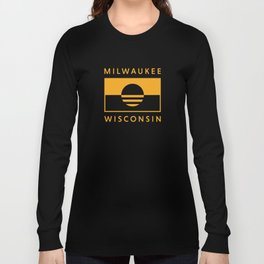 Milwaukee Wisconsin - Gold - People's Flag of Milwaukee Long Sleeve T-shirt
