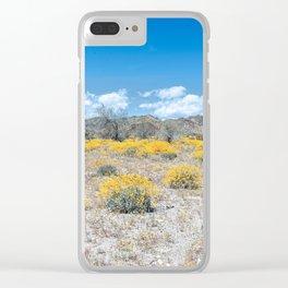Super Bloom 7292 Paradise Joshua Tree Clear iPhone Case