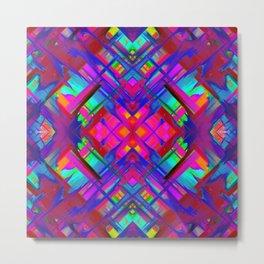Colorful digital art splashing G483 Metal Print
