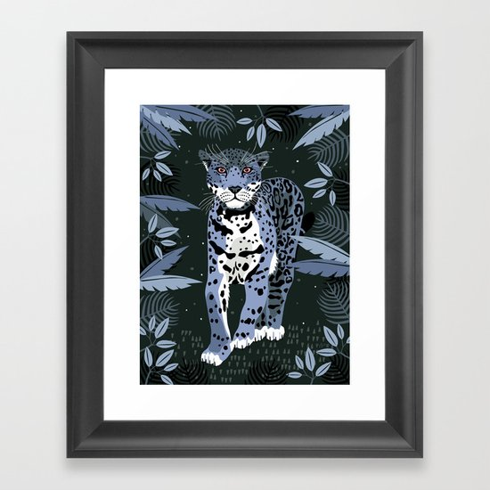 Midnight Jaguar Framed Art Print