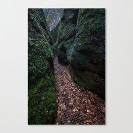Drachenschlucht Gorge Canvas Print