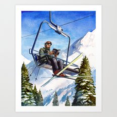 Alpine Paperback Art Print