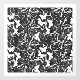 Butterfly pattern 011 Art Print