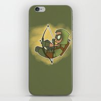 green arrow iPhone & iPod Skins featuring Green Arrow by Snowmaki