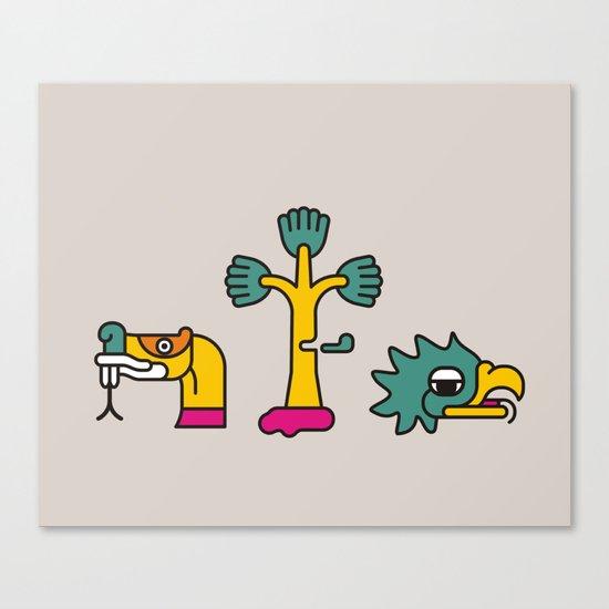 Aztec Glyphs ~3 Canvas Print
