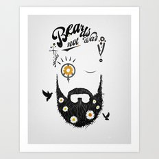 Make Beards not War (typo edition) Art Print