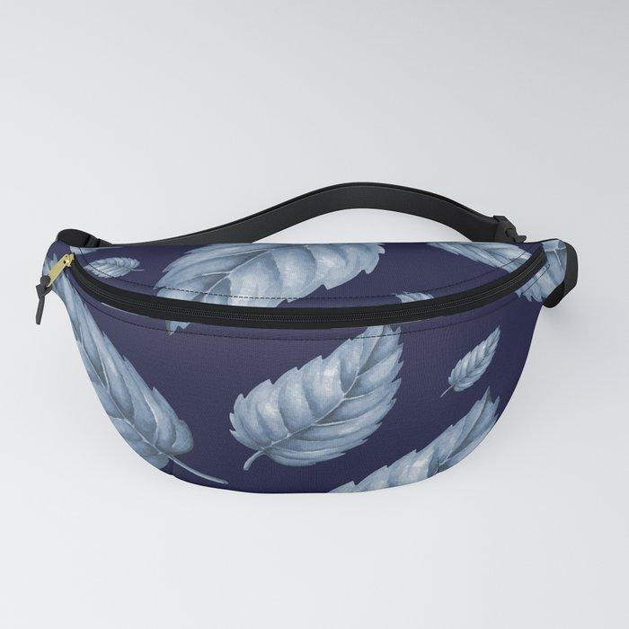 BLUE LEAVES Fanny Pack