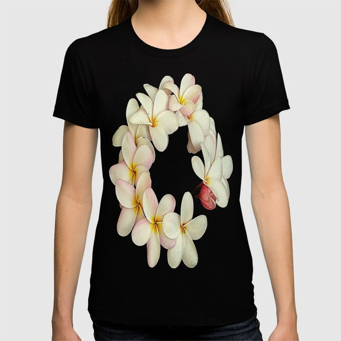 Plumeria Tropical Flower Garland T-shirt