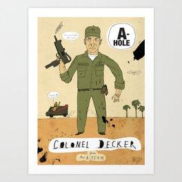 Colonel Decker Art Print