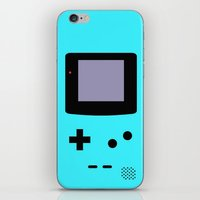 gameboy iPhone & iPod Skins featuring Gameboy Blue by ZenthDesigns