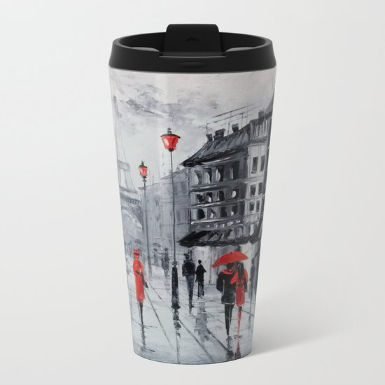Paris Metal Travel Mug