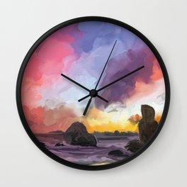 Skies at Sea Wall Clock