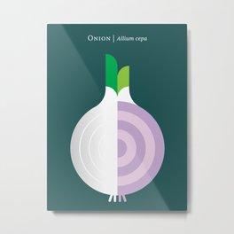 Vegetable: Onion Metal Print