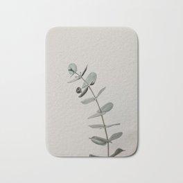 Stretch: minimalist botanical eucalyptus Bath Mat