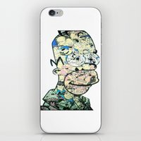 homer iPhone & iPod Skins featuring Homer Color by Drew Kochell