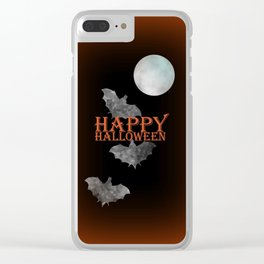 Bats And The Moonlight Clear iPhone Case