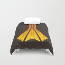 Retro Lines - Orange Flame Duvet Cover