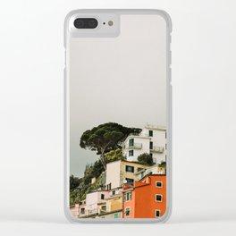 top of riomaggiore Clear iPhone Case