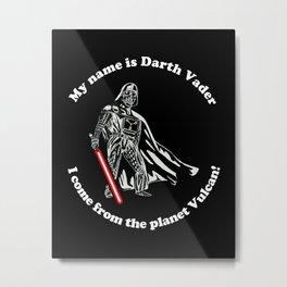 Vulcan Darth Vader alternate Metal Print