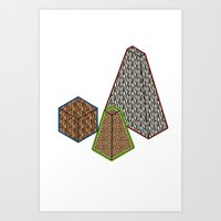 animal gems Art Print