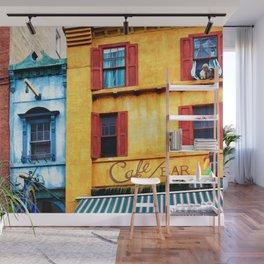 Blue Narrow House Wall Mural