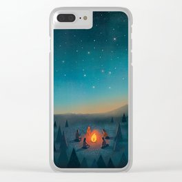Campfire Clear iPhone Case